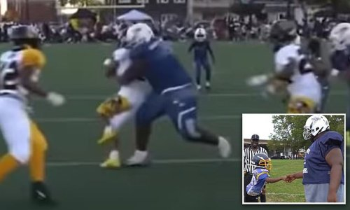 Philly football player is 11 years old but has the body of a grown up
