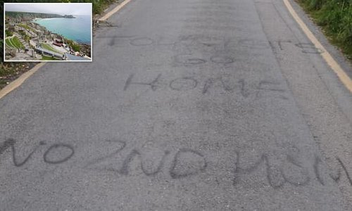 Angry Cornish locals graffiti message telling holidaymakers 'go home'