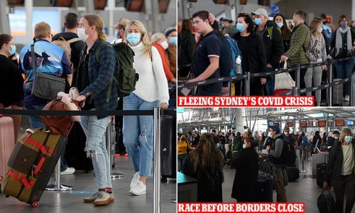 Passengers race to Sydney Airport to flee before state borders close
