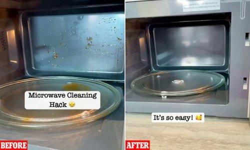 Mum reveals how to clean your microwave with ZERO cleaning products