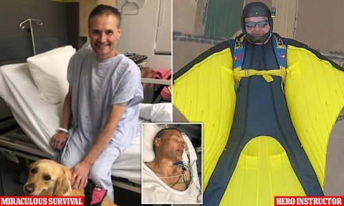 Man who survived skydive falls praises instructor who saved his life