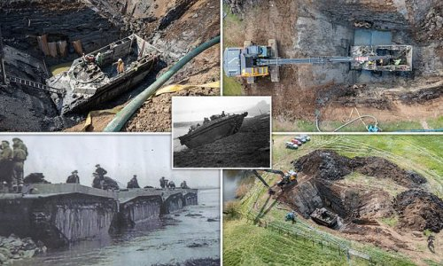 Volunteers spend five days digging out WW2 amphibious vehicle
