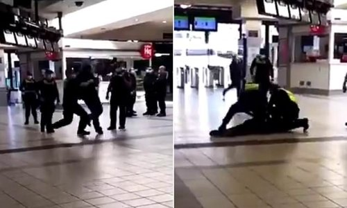 Moment Melbourne police officer slams man headfirst into the ground