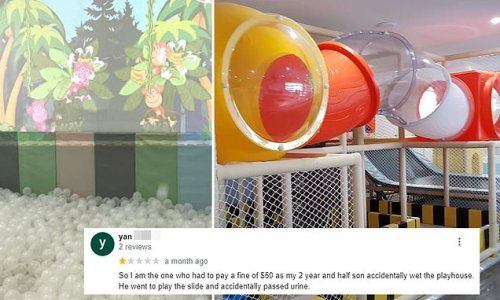 Mum is charged $50 cleaning fee after her toddler peed in play centre