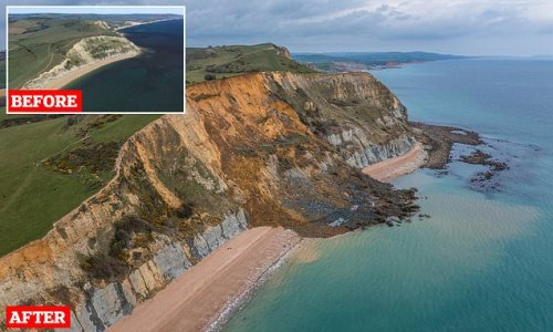 Biggest rockfall in 60 years sees 4,000-ton chunk of cliff collapse