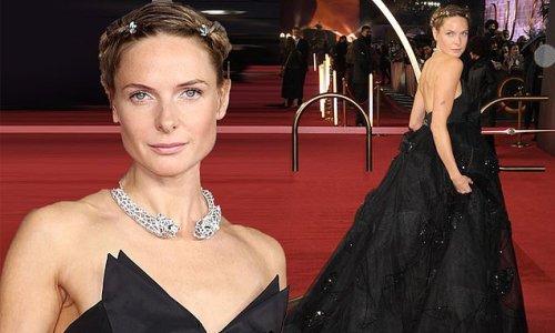 Rebecca Ferguson oozes elegance in a billowy black gown