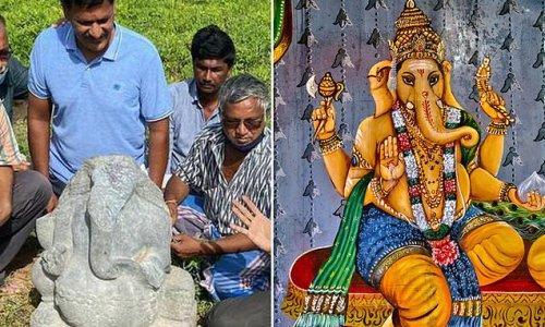 800-year old idol of Hindu god Ganesh found by farmer in India