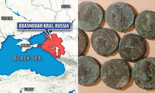 1,400 year-old copper coins found at Phanagoria in Russia