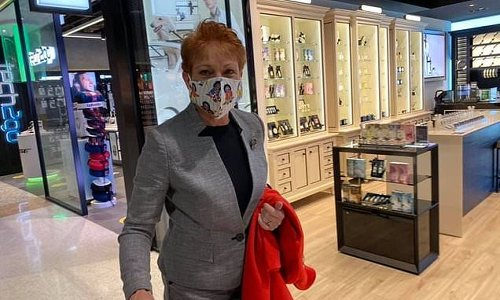Pauline Hanson is blasted after wearing a GOLLIWOG face mask