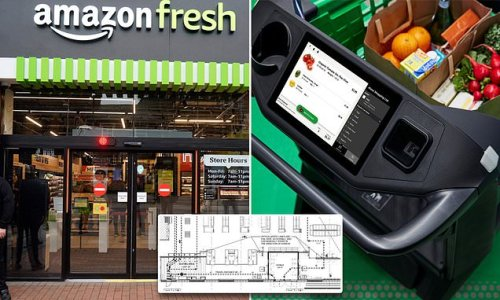 Amazon launches full-size supermarkets with NO cash registers