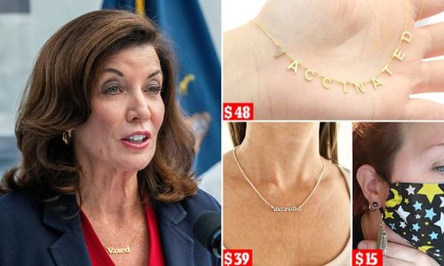 Jab jewelry being sold by Amazon and worn by NY Gov Kathy Hochul