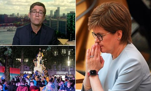 Andy Burnham rages at 'hypocrite' Nicola Sturgeon over travel ban