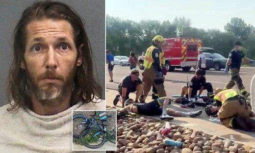 Driver, 36, who 'plowed his pickup truck into cyclists' indicted