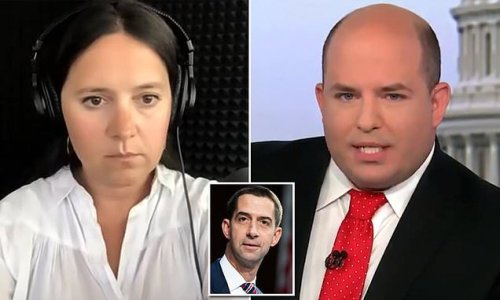 Bari Weiss in heated exchange with CNN's Brian Stelter over Tom Cotton
