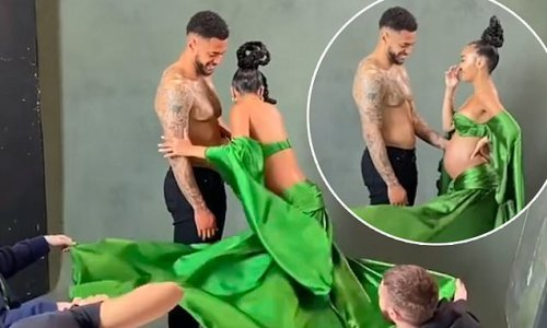 Leigh-Anne Pinnock shares backstage video from pregnancy photoshoot