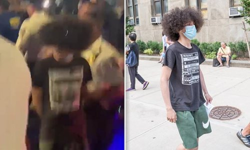 Son of retired NYPD officer arrested for 'hitting protestors with BMW'