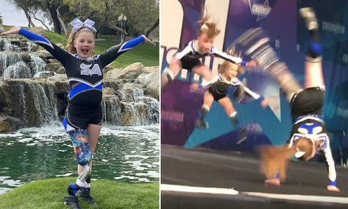 11-year-old girl with one leg becomes a star cheerleader