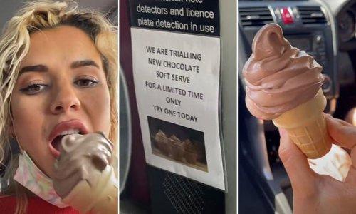 McDonald's Australia launches a CHOCOLATE soft serve ice cream