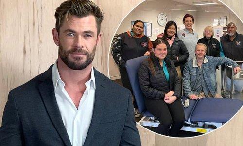 Chris Hemsworth donates thousands of dollars worth of medical supplies