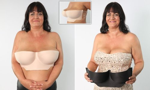 Mother, 41, invents new strapless adhesive bra for busty women