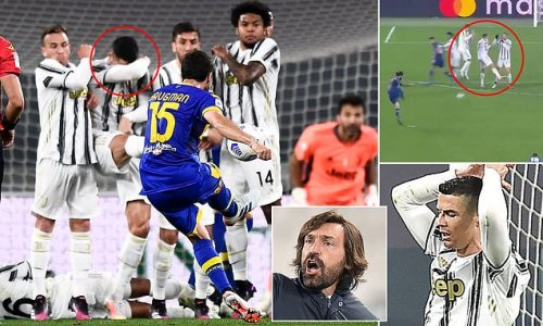 Cristiano Ronaldo proves costly AGAIN for Juventus in a free-kick wall