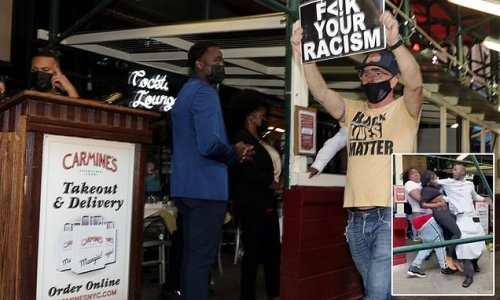 BLM holds 'Cancel Carmine's' protests outside famed restaurant in NYC