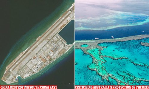 China says Great Barrier Reef 'in danger' while smashing its own coral