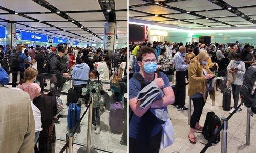 Passengers queue for 'three hours' in Heathrow border bedlam