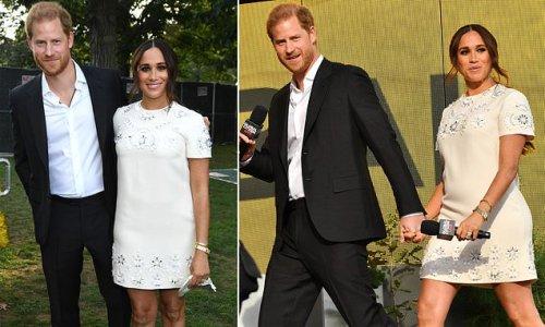 Prince Harry seemed 'shy' and pulled Meghan towards him 'Wokestock'