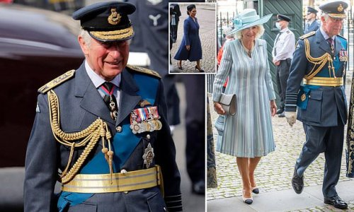 Charles and Camilla join Priti Patel for Battle of Britain service