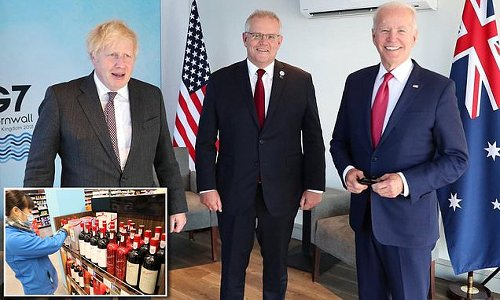 G7 leaders served Australian shiraz in show of support against China