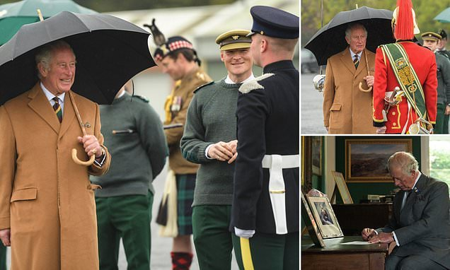Prince Charles addresses soldiers at secret US spy base RAF Menwith