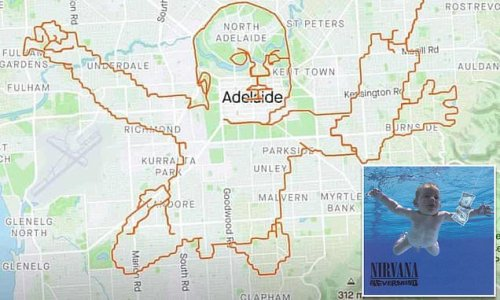 Keen Aussie cyclist recreates controversial Nirvana baby album cover