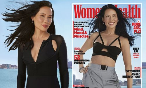 Lucy Liu, 52, wows in black swimwear for cover shoot