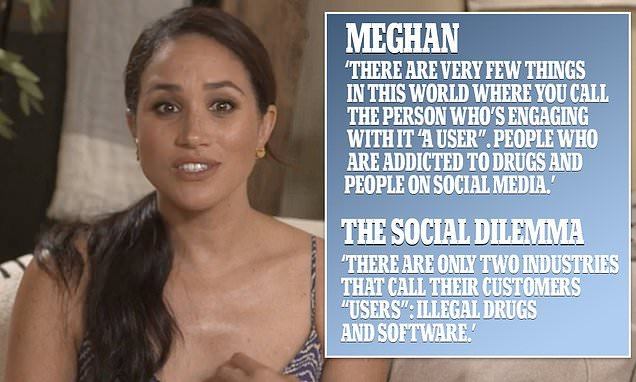 Meghan Markle is accused of 'ripping off' The Social Dilemma
