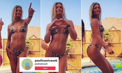 Paulina Porizkova joins TikTok with bikini dancing video