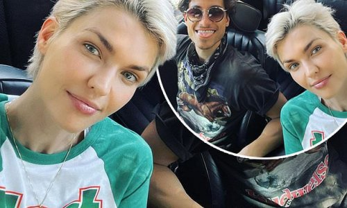 Ruby Rose shows off her edgy peroxide-blonde pixie cut in LA