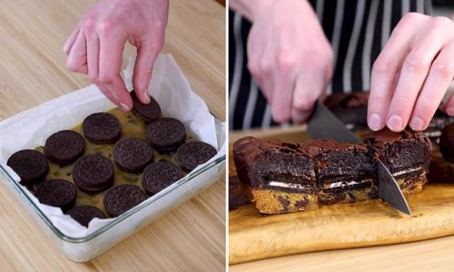 Baker shares his simple recipe for the ultimate loaded brownies