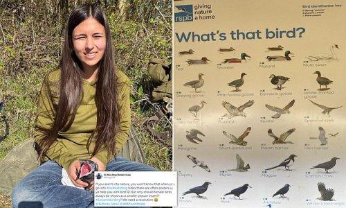 Birdwatcher brands RSPB posters 'sexist'