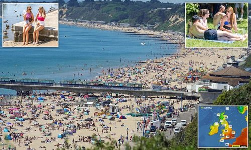 Britain is set to bake in 84F sunshine today