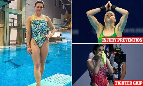 This is why Olympic divers carry shammies with them while competing