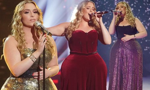 American Idol's Grace Kinstler shows off her curves in a trio of gowns
