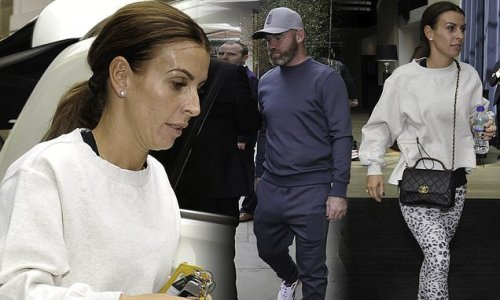 Coleen and Wayne Rooney leave their hotel after party