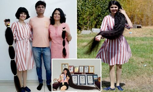 World record-holding real-life Rapunzel gets her hair cut