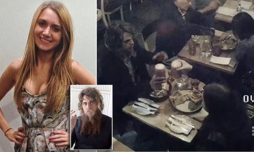 Chilling video: Courtney Herron enjoys dinner with man who KILLED her