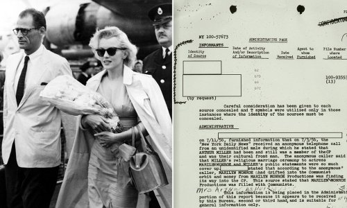 'Marilyn Monroe Productions is filled with communists': The FBI file that shows how agency tracked actress and investigated her for communist ties in the 1950s