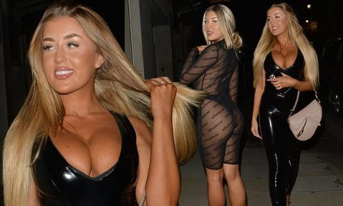 Love Island's Jess and Eve Gale head out for a night at Tape nightclub