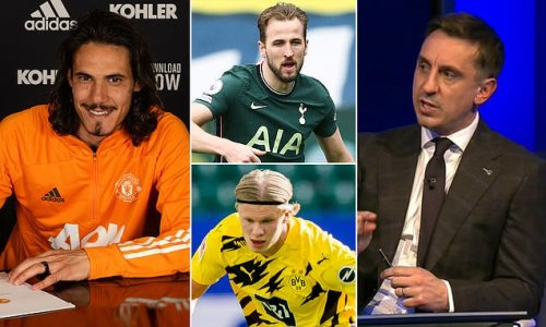 Gary Neville believes United will NOT buy Harry Kane or Erling Haaland
