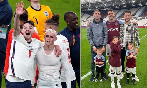Declan Rice's brother welcomes new baby as England win in semi-final