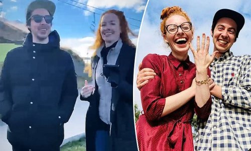 The Wiggles' Emma Watkins in video dancing with fiancé Oliver Brian